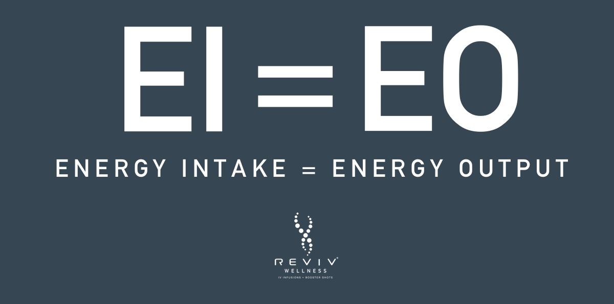 Energy intake = Energy output